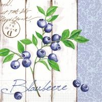Tissue Servietten 33x33 cm - Blaubeere