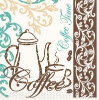Tissue Servietten 33x33 cm - Kaffee / Tee