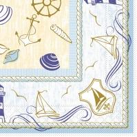 Tissue Servietten 33x33 cm - Coast