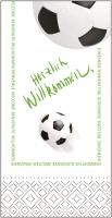 Tissue Servietten 33x33 cm - Herzlich Willkommen/Fußball