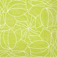 100 Tissue Dinner Servietten - Hugo (hellgrün)