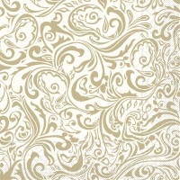 100 Tissue Dinner Servietten - Lias (champagner/hellbraun)