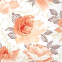 Tissue Servietten 40x40 cm - Rosalie (aprikot)