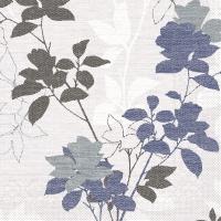 100 Tissue Dinner Servietten - Chrissy (blaugrau)
