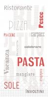 Tissue Servietten 40x40 cm - Pasta  (1/8 Falz)