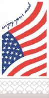 Tissue Servietten 40x40 cm - USA  (1/8 Falz)