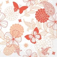Tissue Servietten 40x40 cm - Natalie  (terrakotta/aprikot)