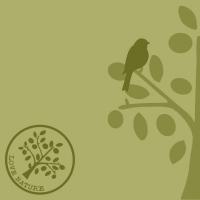 Linclass Servietten 40x40 cm - Love Nature-Baum  (oliv)