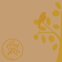 Linclass Servietten 40x40 cm - Love Nature-Baum  (naturbraun)