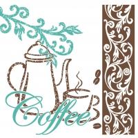 Tissue Servietten 25x25 cm - Kaffee/Tee