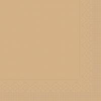 Tissue Servietten 33x33 cm - BASIC  SAND  33x33 cm 1/4 Falz