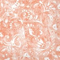 Tissue Servietten 33x33 cm - Felicia  (terrakotta)