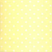 Lunch Servietten Hearts&Dots light yellow