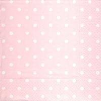 Lunch Servietten Hearts&Dots pink