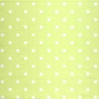 Lunch Servietten Hearts&Dots light green