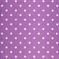 Lunch Servietten Hearts&Dots purple