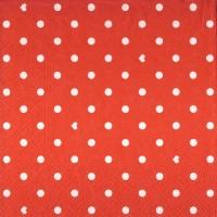 Lunch Servietten Hearts&Dots red