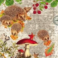 Servietten 33x33 cm - Hedgehog Family