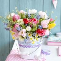 Lunch Servietten Spring Bouquet