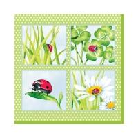 Servietten 25x25 cm - Ladybird green