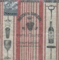 Servietten 25x25 cm - Vin Rouge
