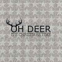 Servietten 33x33 cm - Oh Deer, silver
