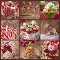 Servietten 33x33 cm - Biskuits de Noel