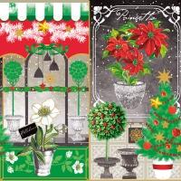 Servietten 33x33 cm - Weihnachtscollage
