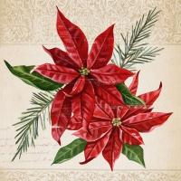 Servietten 33x33 cm - Vintage Weihnachtsstern