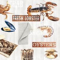 Servietten 33x33 cm - Fresh Seafood