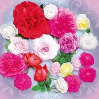 Servietten 33x33 cm - Scent of Roses