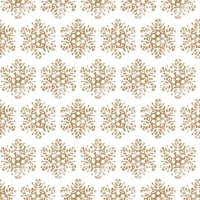 Servietten 33x33 cm - Snow Crystal gold