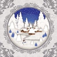 Servietten 33x33 cm - Winter Landscape