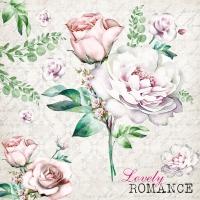 Servietten 33x33 cm - Lovely Romance