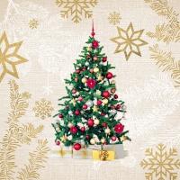 Servietten 33x33 cm - Eleganter Weihnachtsbaum