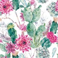 Servietten 33x33 cm - Cactus Flower