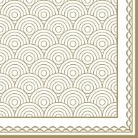 Servietten 33x33 cm - Ornamentation gold