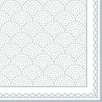 Servietten 33x33 cm - Ornamentation silver