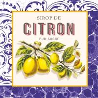 Servietten 33x33 cm - Citron