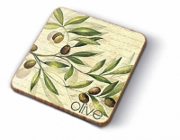 Kork Untersetzer - Olivengarten