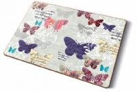 Kork Tischsets - Romantische Schmetterlinge