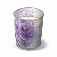 Glaskerze - Wunder-Rosen