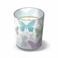 Glaskerze - Weiche Schmetterlinge