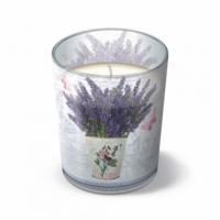 Glaskerze - Blühender Lavendel