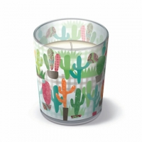 Glaskerze - Kaktusgarten
