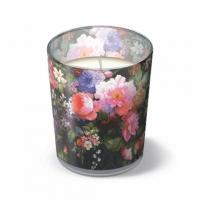 Glaskerze Roses on Velvet