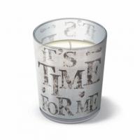 Glaskerze - Zeit für mich