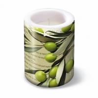 Dekorkerze - Laterne Griechische Oliven