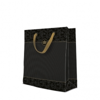 10 Geschenktaschen Premium - Gold Crown large
