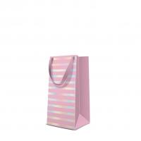 10 Geschenktaschen - Reflex Stripes  pink narrow